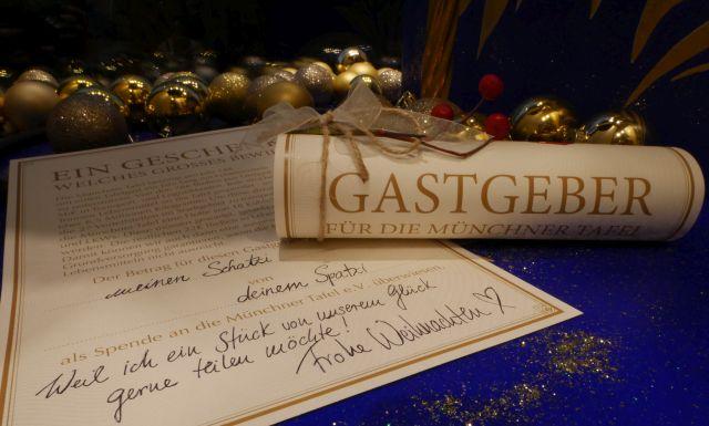 Spenden statt Geschenke. Gastgeber werden und die 20.000 Bedürftigen der Münchner Tafel Unterstützen.